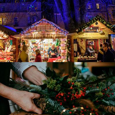 Festive Wreath Making in Bath Somerset, Bath Christmas Market