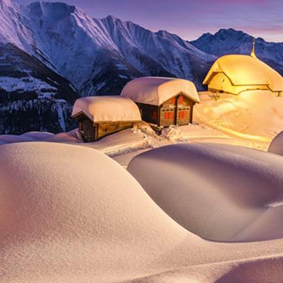 A Winter Wonderland in the Swiss Alpine village of Andermatt